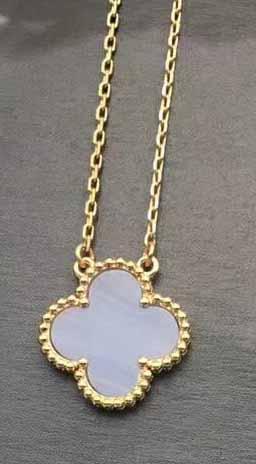 золото + фиолетовое ожерелье