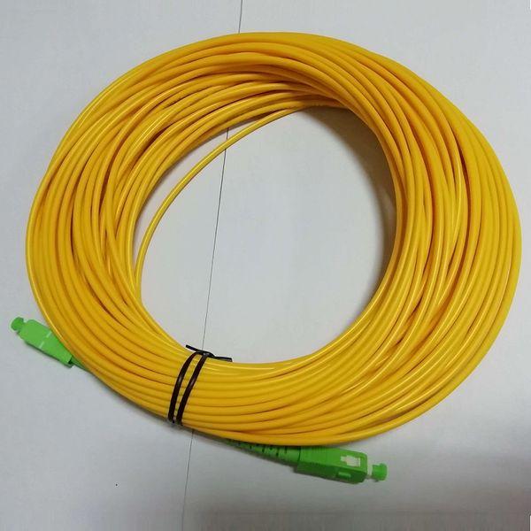 Envío gratis material de fibra óptica 30 m SC Cable de cable de parche de fibra APC SC / APC-SC / APC Singlemode Simplex G652D