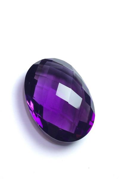 Amethyst Gemstone Natural 51.77ct Dark Purple Amethyst Oval Cut Brazil Origin Loose Gemstones Loose Stones for Jewelry Making