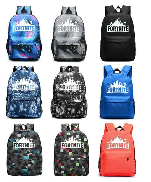 Multicolors Marke Battle Royale Schultasche Nachtleuchtende Rucksack Student Schultern Tasche Leuchtende Rucksäcke Außentaschen 46 * 31 * 18 cm