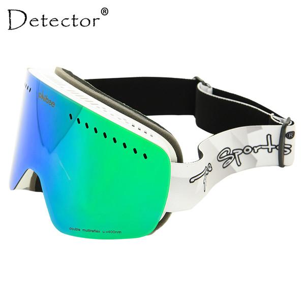 Detector Niños Gafas de esquí Niños Lente doble UV400 Máscara antivaho Gafas de nieve Esquí Niñas Niños Monopatín Gafas de snowboard