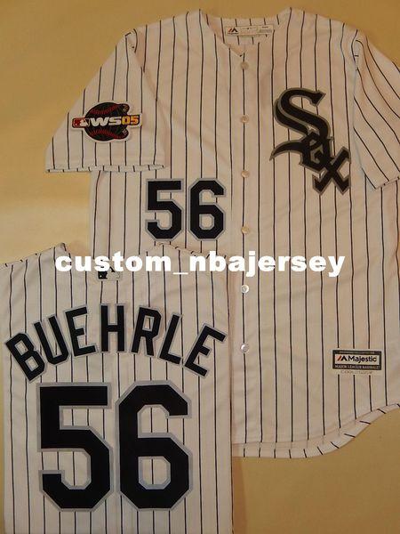 Cheap custom MARK BUEHRLE 2005 Sewn Baseball Jersey WHT Stitched Customize any name number MEN WOMEN BASEBALL JERSEY XS-5XL
