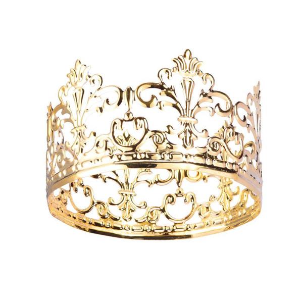 Tiara Crown Party Cake Decoration Ornamenti per capelli in metallo Crown Accessori per matrimoni per la decorazione di torte per feste