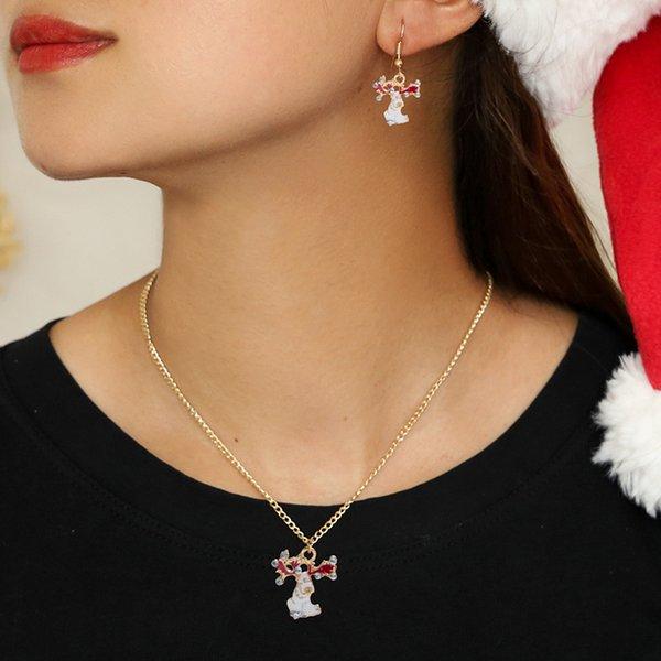 Pendiente de Navidad Modyle Boutique nuevas mujeres Elk Santa Claus preciosa joyería árbol de Navidad Bell para mujeres Los regalos
