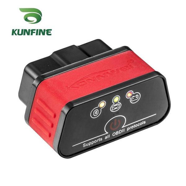 KUNFINE KW903 Bluetooth 3.0 OBD2 scanner de code lecteur Effacement défaut erreurs OBD 2 327 ELM ELM327 pour Android Auto Automobile outil