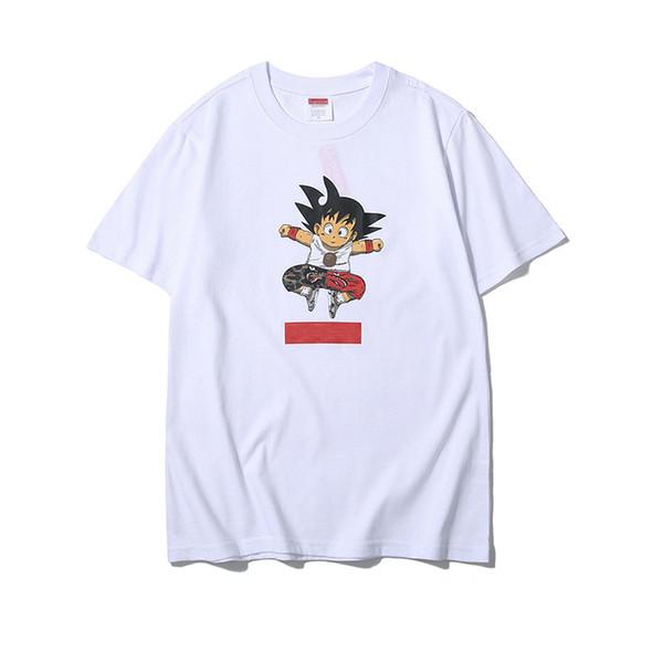 Der Designer-T-Shirt der neuen Luxusmänner klassischer Kastenlogodruck T-Shirts O-Kragenbaumwollbeiläufige Straße, die Hip-Hop-T-Stücke Skateboard fährt