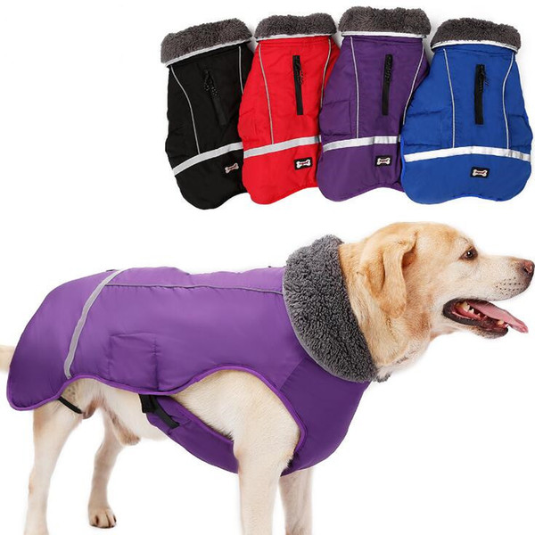 2018 Water Resistant Reflective Dog Jacket Puppy Vest Outfits Designer Warm Winter Dog Coats Pet Clothes Elastic Small to Large Dog Clothes