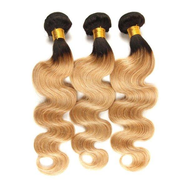 Ombre Brazilian Hair Weave Bundles Body Wave T1B/27 Remy Hair Extension Can buy 3/4 Bundles Lot Brazilian Hair Weave Freedomhair