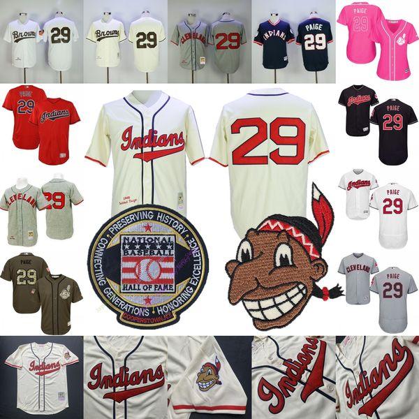 Schulranzen Paige Jersey Cleveland Baseball Indianer St. Louis Brown Hall of Fame Männer Frauen Cooperstown MN Pullover Button