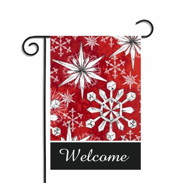 5pcs Mix Style Winter Snowflake Snowman Printed Garden Flag Polyester DIY Yard Hanging Flag House Decoration Portable Banner Flags