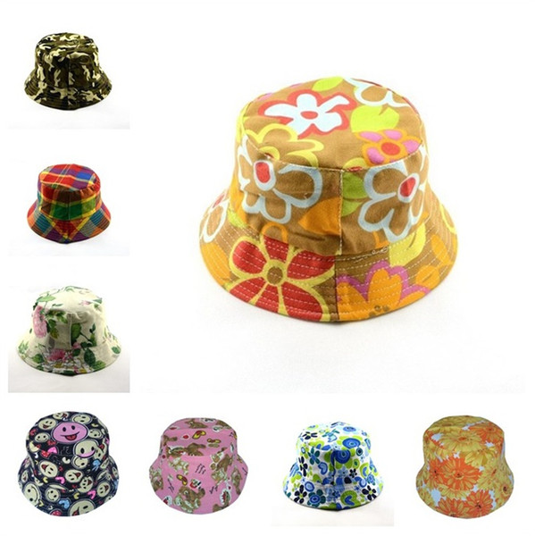 Flower-pot shaped outdoor fishing sunshade hat for travel sunshade print hat for home garden party hat T3I5138