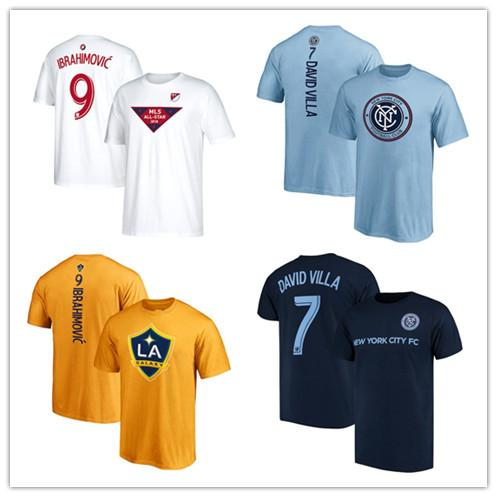 18 19 MLS soccer jersey Zlatan Ibrahimovic Player jersey darlington nagbe Ignacio Piatti Football T-shirts David Villa Branded Backer Shirts