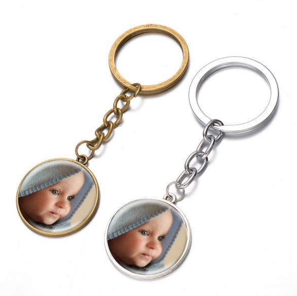 Personalized Photo key chains Custom Keychain Photo of Your Baby Child Mom Dad Grandparent Loved One Gift for Family Gift