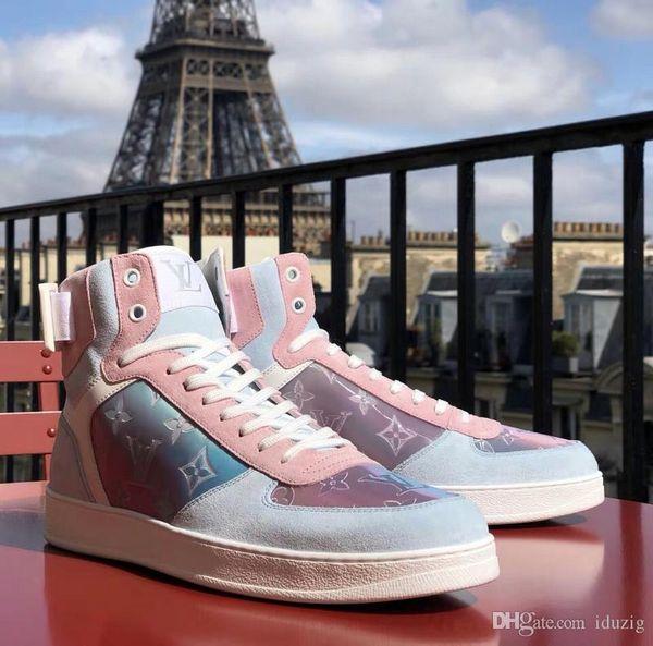 Designer di lusso L Scappa Scarpe da uomo da donna Sneakers Stilista Ricamo con scatola arancione Scarpe casual Taglia 38-44