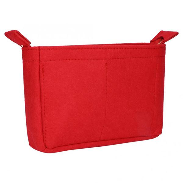 toy storage Portable Felt Handbag Cosmetic Bag Makeup Storage Organizer Travel closet organizer NEW New