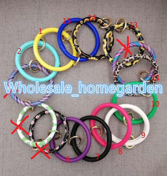best selling serape leopard sunflower leather bracelets keychains for women girls summer hot leather bracelets keychains keyring Christmas 2019