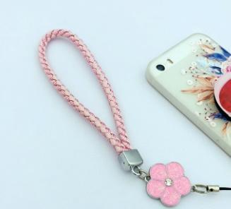 cordón del teléfono móvil cordón del teléfono adornos de la muñeca ciruela cuerda insignia insignia llavero cuerda del teléfono móvil