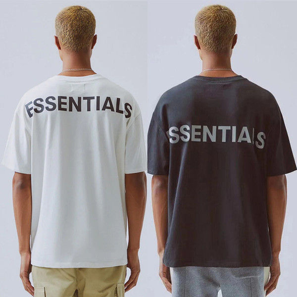 2019 Hip Hop 6th Fear Of God Essentials 3M Reflective Tee Skateboard Cool Tshirt Fog Men Women Cotton Short Sleeve Casual T Shirt