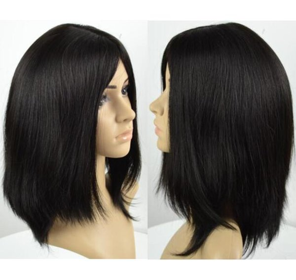 Kosher Wigs 12A Grade Light Black Color #1b Finest Malaysian Virgin Human Hair Silky Straight 4x4 Silk Base Jewish Wig Fast Free Shipping