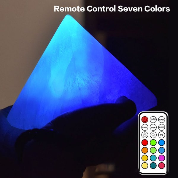 BRELONG 1 pc LED Pyramid Ore Charging Creative Creative Night Light Bedside Table Lamp Romantic Multicolor / Tricolor