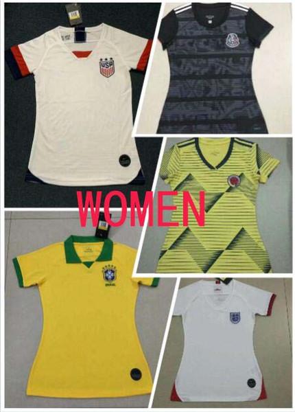 2019 Milli Takım Amerika kız Futbol Forması Birleşik Devletleri Gömlek ABD kadınlar 3 yıldız LLOYD RIPINOE KRIEGER Futbol Üniforma Kadın Brezilya