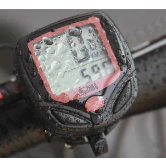 Wireless Bicycle Computer Odometer Speedometer with cable 2 tier LCD display Waterproof Bike Speed Cycling Stopwatch Riding #24012