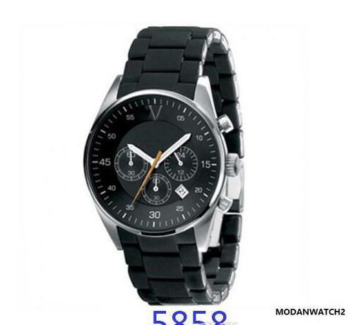 Vente chaude Montre homme classique de la mode AR5858 montres chronographe à quartz sont la livraison gratuite de haute qualité
