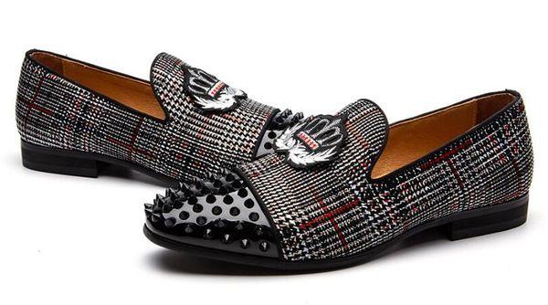 Terlik Erkek Loafer'lar Velours Sigara Kayma Ayakkabı Parti ve Gelinlik Ayakkabıları erkek Yassı Ayakkabı zapatos de caballero dm34