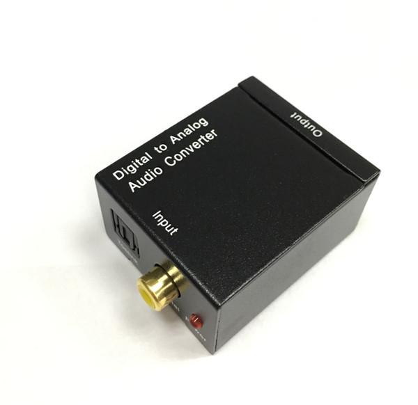 Hohe Qualität Digital-zu-Analog-Audiokonverter-Optik-Koaxial-Cinch-Toslink-Signal zu Analog-Audiokonverter-Adapterkabel Freies Verschiffen