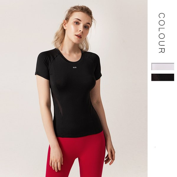 Speed Do Clothes Woman Close Solid Color Yoga Serve Motion Jacket T Pity Sexy Bodybuilding Clothes Short Sleeve Half Sleeve