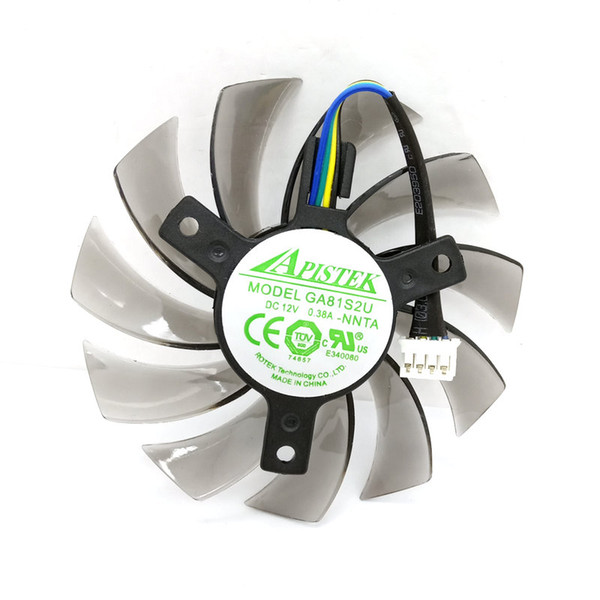 top popular New Original GA81S2U NNTA DC12V 0.38A for EVGA ONDA GT430 GT440 GT630 Graphics card cooling fan 2021