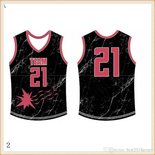 2019 2020 Basketbol Formalar Hızlı Kuru MAVİ Nakış Logolar Ücretsiz Kargo Ucuz toptan Erkekler Boyut Jersey302 kırmızı
