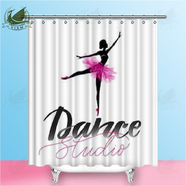 Vixm Italian Ballet Beautiful Actress Art Style Shower Curtains Dance Room Curtain Waterproof Polyester Fabric Curtains For Home Decor