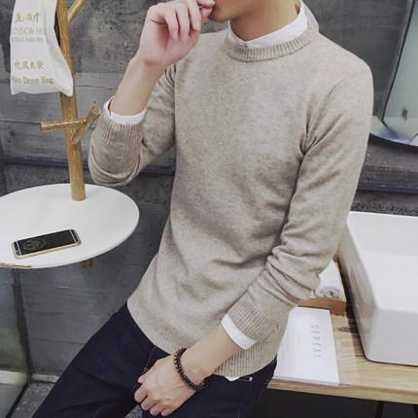 2019New Brand Men Long Sleeve T-Shirt White Cotton White T Shirt Men New Fashion Solid Slim Fit Tshirts Male