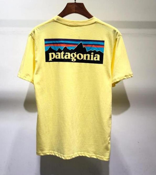 Summer BEAMS x patagonia T Shirt Hombres Mujeres camiseta Hip Hop Street Culture Camiseta de algodón de alta calidad 16310