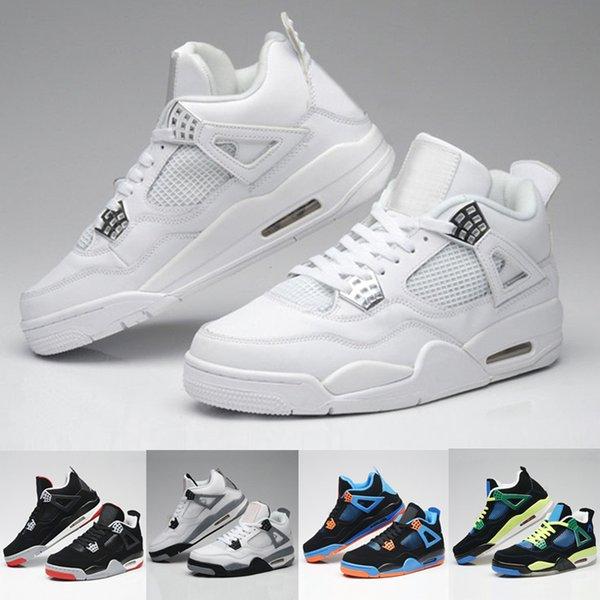 Designer shoes men Nike Air max Jordan 4 sneakers grigie da basket classiche grigie 4s nuove 2019 scarpe sportive economiche scarpe da ginnastica US7-US12 con scatola