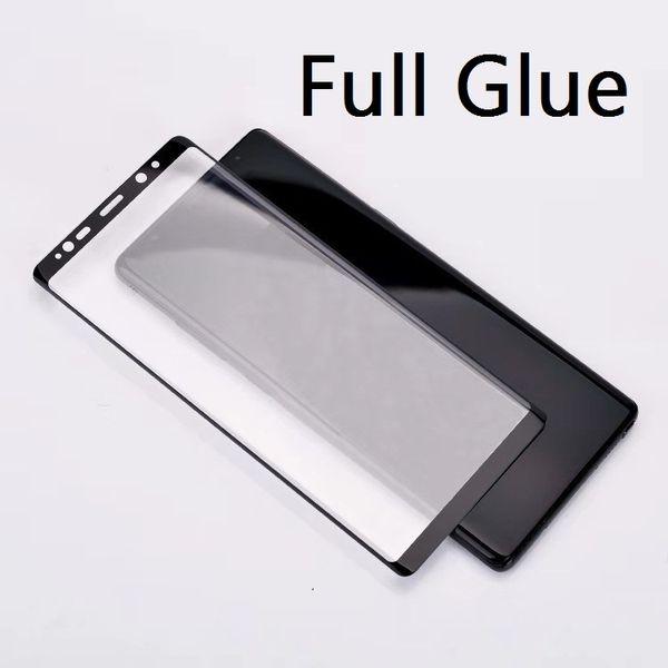 Voller klebender Kleber-Kasten freundlich / in voller Abdeckung gehärtetes Glas 3D gebogen für Samsung-Galaxie S8 S8 PLUS S9 S9 PLUS ANMERKUNG 8 Anmerkung 9 100p kein Einzelverkauf