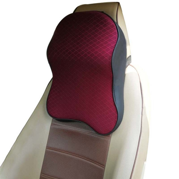 Memory Foam Car Headrest Pillow Massage Seat Back Waist Support Neck Rest Pillow Car Cushion Interior Accessories SH190713