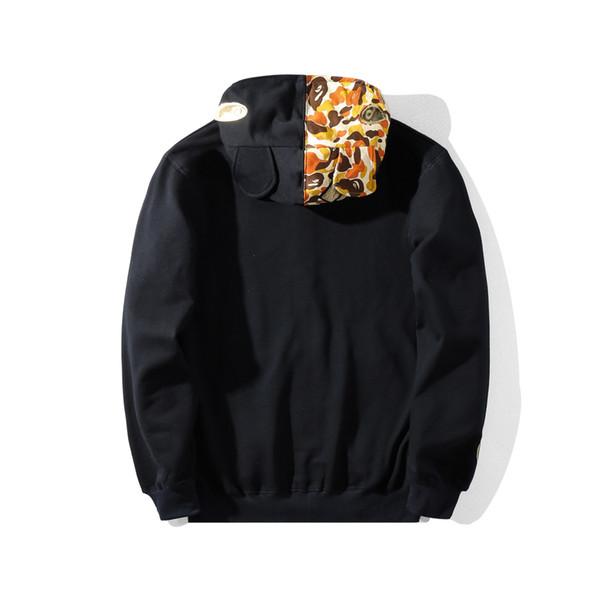Winter Men Camouflage Casual Thin Style Hoodie Youth Loose Coat Japan Brand Designer Tide Brand Hoodies
