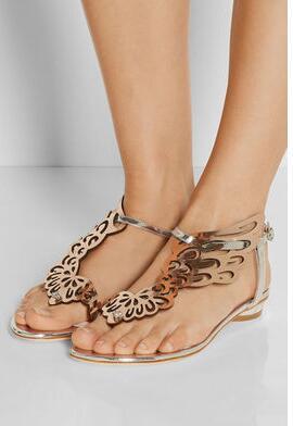 Sophia Webster crystal butterfly flat sandals women flip flops angel wings thong flat casual shoes women summer heels dress sandals