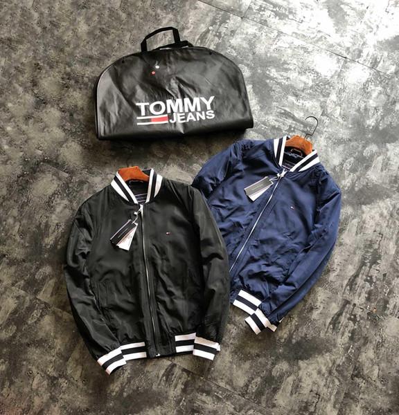 19fw роскошный бренд Дизайн Бейсбол воротник куртки TH Женщины Мужчины Ветровка Кофты Свитер Уличная Одежда На Открытом Воздухе Толстовки Пальто