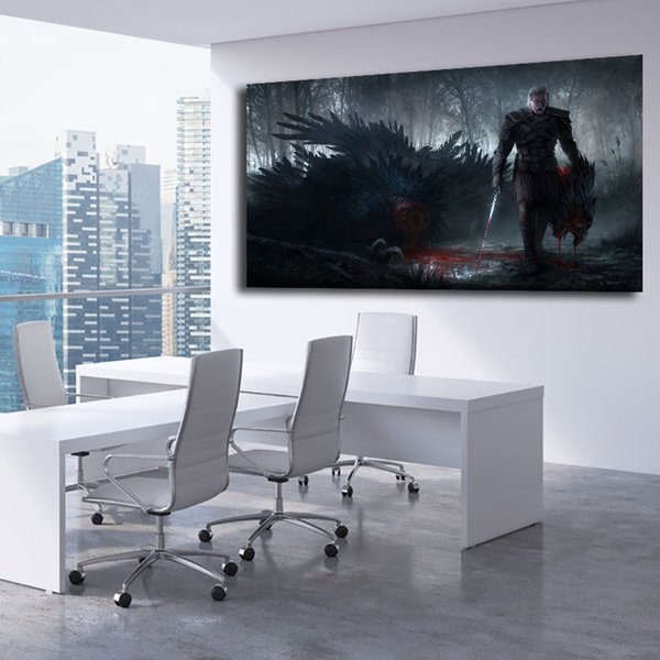 Acquista Witcher 3 Wild Hunt Fantasy Azione Lotta Guerriero Tela Pittura  Stampa Camera Da Letto Home Decor Wall Art Olio Poster Immagine For Living  ...