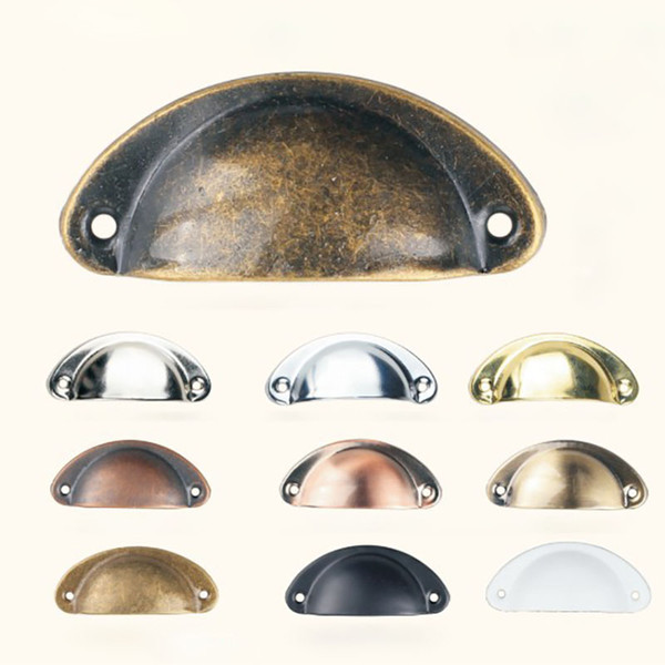 Vintage Cabinet Knobs and Handles Cupboard Door Cabinet Drawer Furniture Antique Shell Home Handles Pulls WX9-1276