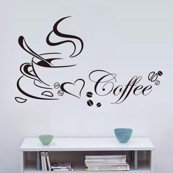 Acquista Tazza Da Caffè Di Nuova Concezione Adesivi La Casa / Cucina  Impermeabile E Rimovibile Decalcomanie La Decorazione Di Pareti In Vinile.  ...
