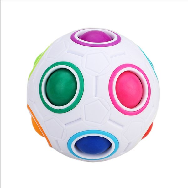 2019 new children's power rainbow ball football maze ball puzzle toy creative shaped square