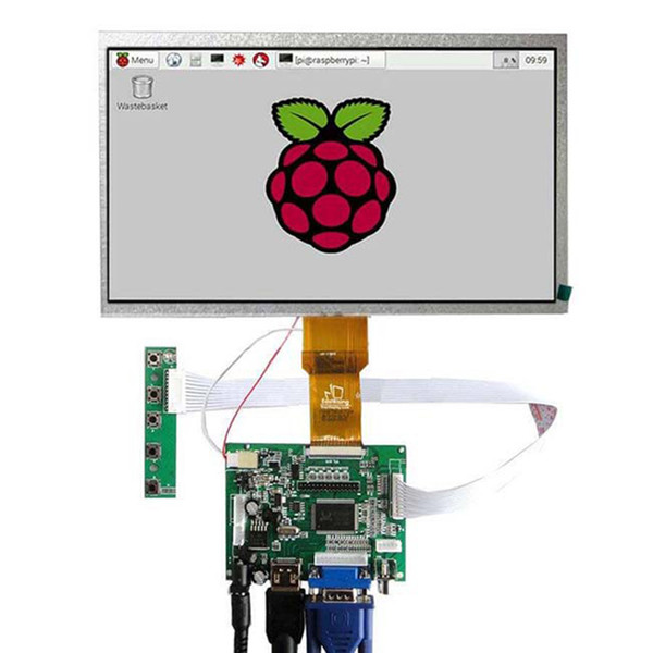 hot-7 inch 1024*600 LCD Display for Raspberry Pi +HDMI+VGA+Driver Board+Touch Screen