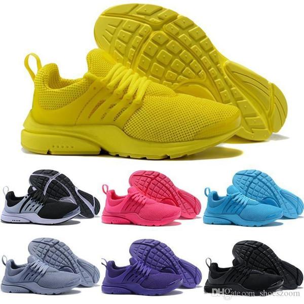 nike air Yeni Tasarım 2019 Erkek Kadın Koşu Ayakkabıları nike air Presto 5 Prestos Ultra BR QS Tp Sarı Pembe Siyah Oreo Spor Moda Koşu Sneakers Fly