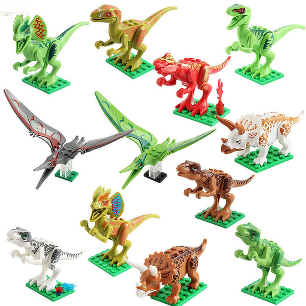 best selling Jurassic Period Dinosaur DIY Blocks Bricks Puzzle Emulation Dinosaur Models For Kids Adults Novelty Game Toys Halloween Gifts