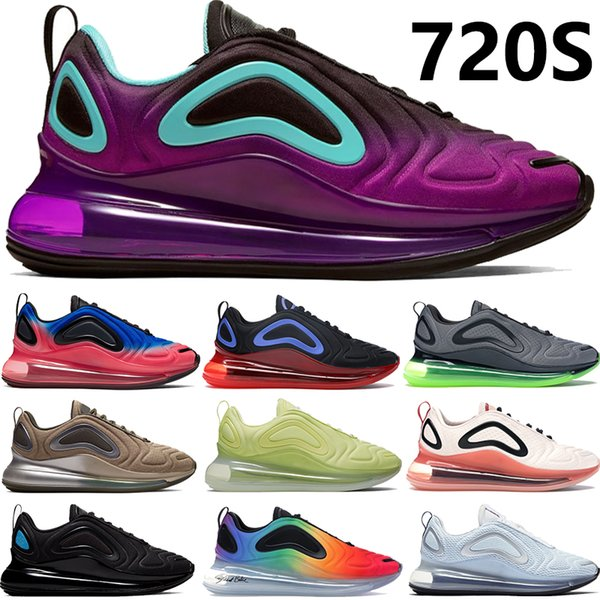 best selling NEW 720S KPU BE TRUE violet Aurora Tie Dye waffle Triple Black White Hot Lava pink sea men women running shoes Sneakers