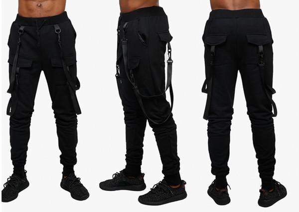 Pantalons de survêtement décontractés pour hommes Pantalons de sport Hiphop Jogger Webbing Pantalons Hip hop pour hommes Street Wear Pants à vendre